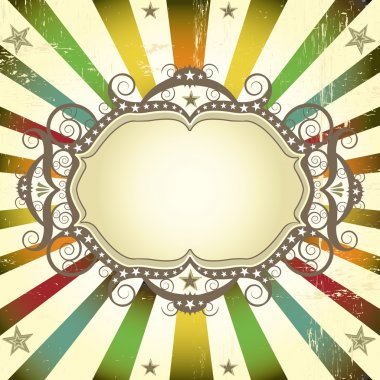 Circus color card with frame