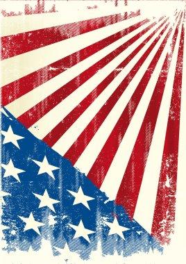 American grunge background.