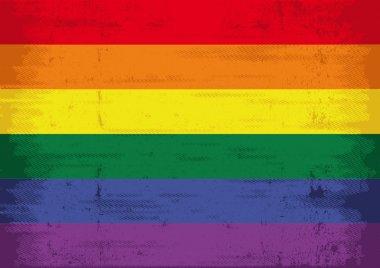 A grunge gay flag