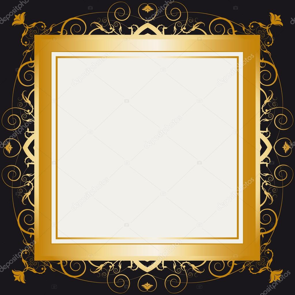 square gold frame stock vector 29942083