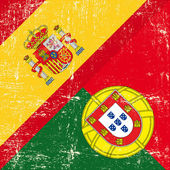 Fotografie Spanish and Portugal grunge Flag