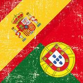 Fényképek Spanyol és portugál grunge zászló