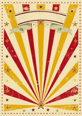 Circus vintage sunbeams. A retro circus poster for your advertising stock vector