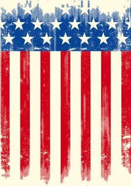 American grunge flag.