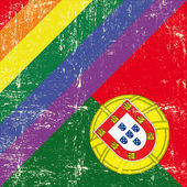 Fotografie Portuguese and gay grunge Flag