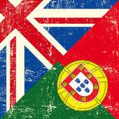 Fényképek Brit és portugál grunge zászló