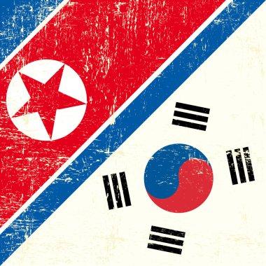 North Korean and South Korean Flag