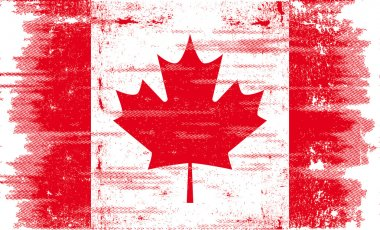 Canadian grunge flag.