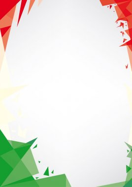 Background origami of Italy.