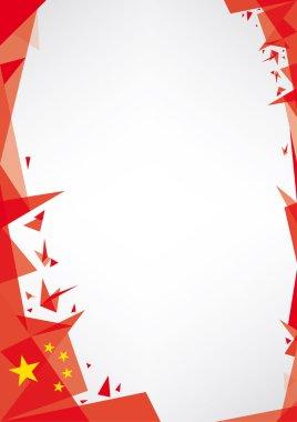 Background origami of china