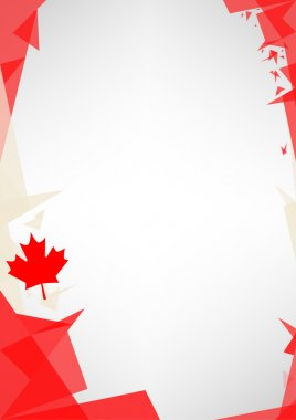 Background origami of Canada.