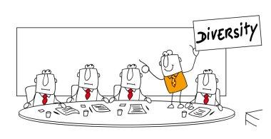 Meeting, business man having new idea