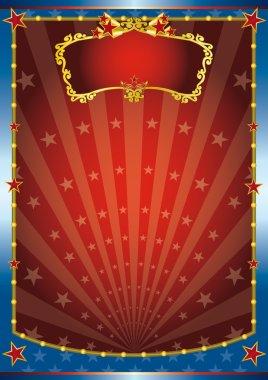 """Картина, постер, плакат, фотообои """"красный и синий шоу"""", артикул 35209129"""