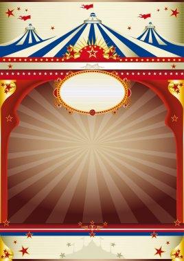 Wonderful circus vintage background
