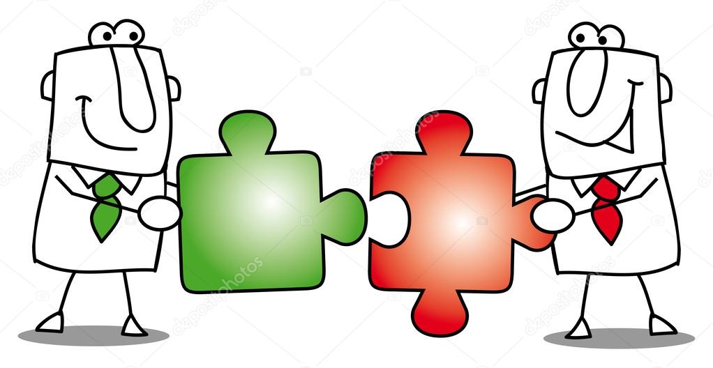 People work together stock vector