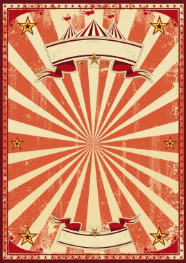 A red vintage circus background for a poster stock vector