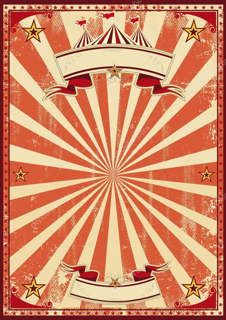 Circo Rojo Retro Vector De Stock Tintin75 38665187