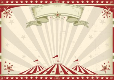 A circus vintage poster for your advertising. Perfect size for a screen. stock vector