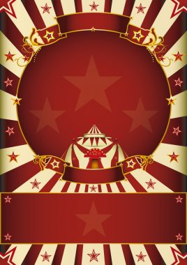 A circus poster with a circle frame for your advertising. stock vector