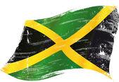 Photo Waving jamaican grunge flag