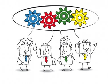 Cooperation - businessmen with ideas