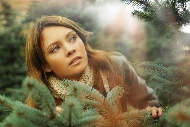 Beautiful woman, fantasy surprise concept