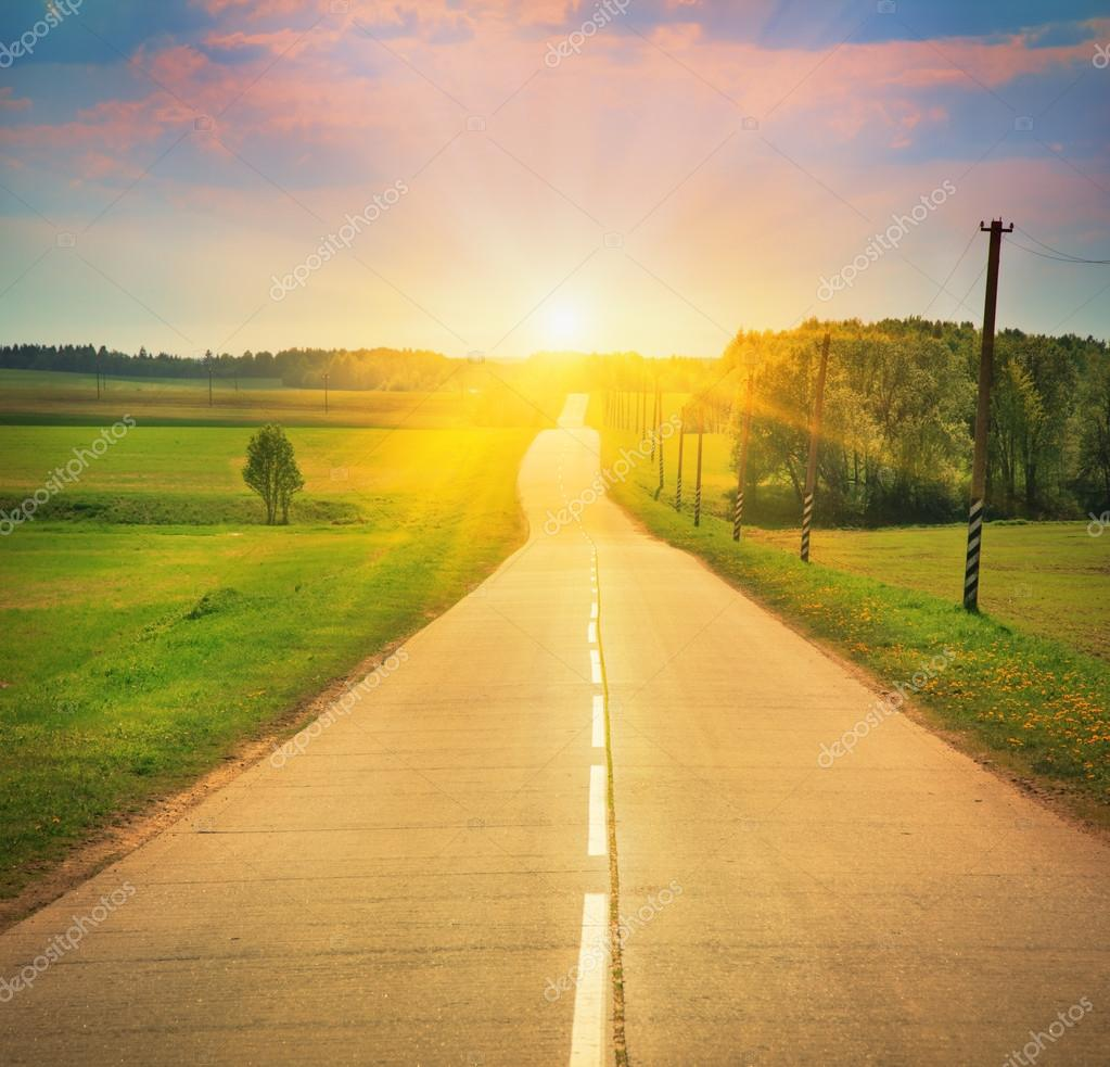 road in sunlight