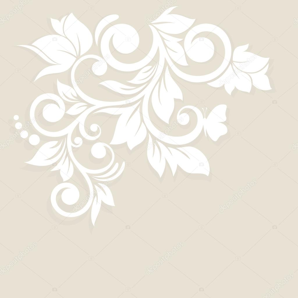 blumen hintergrund hochzeit karte oder einladung mit abstrakten flor stockvektor jbunina. Black Bedroom Furniture Sets. Home Design Ideas