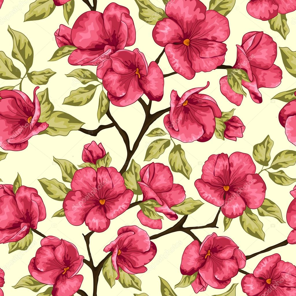 Cherry blossom. Sakura flowers. Floral background. Branch with flowers
