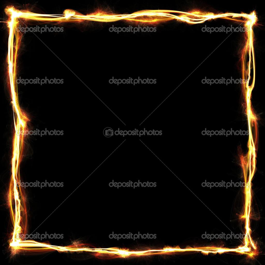 diseño del fondo negro abstracto marco dorado — Foto de stock ...