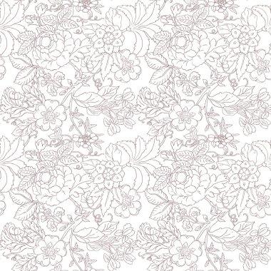 Vintage flower pattern stock vector