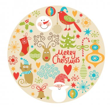 Christmas and New Year's decorative elements