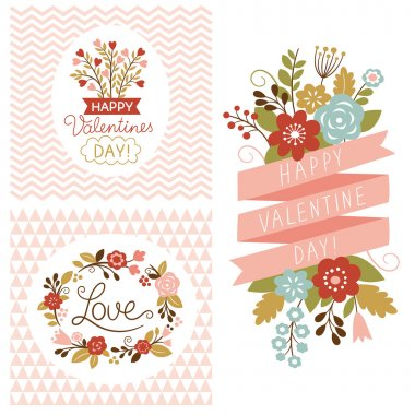 Valentine's day cards clip art vector