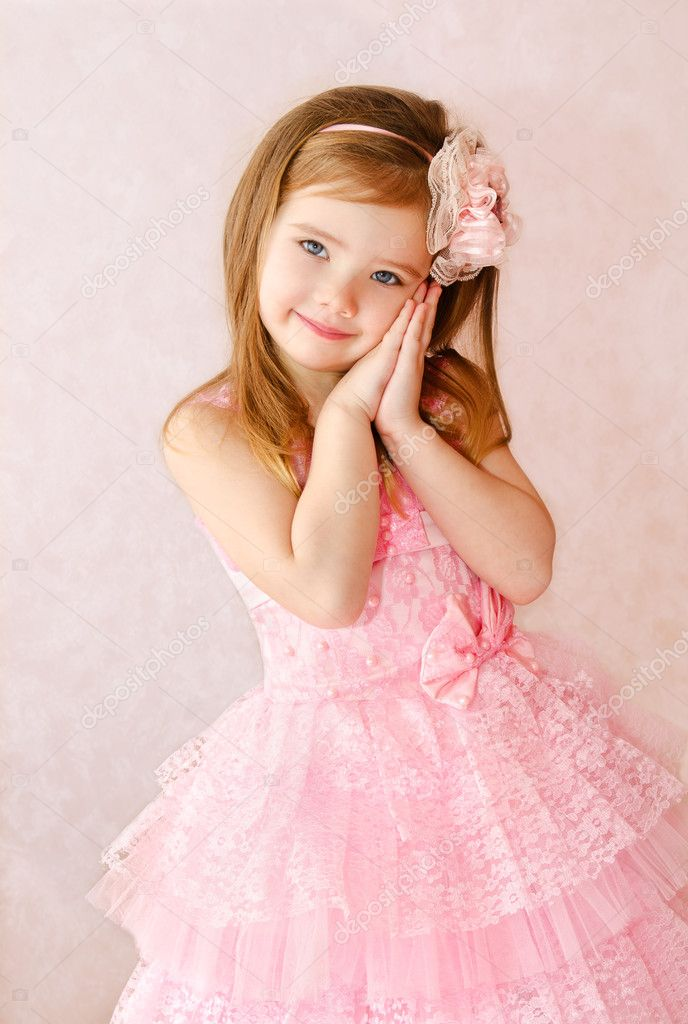 Cute Stock Photography: Portrait Of Cute Smiling Little Girl