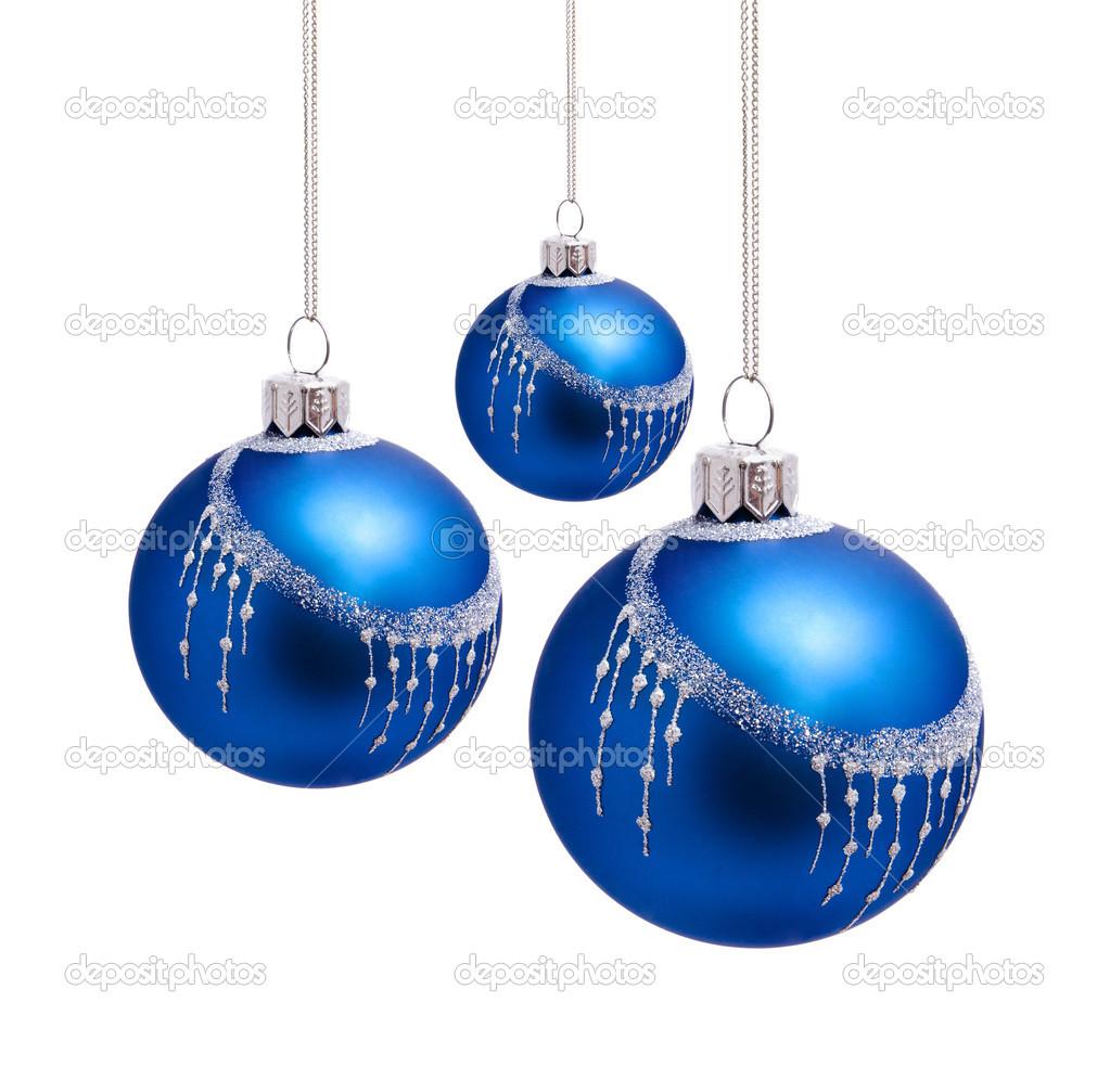 Palle di natale blu