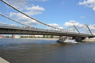 View of the Crimean bridge on Moscow river