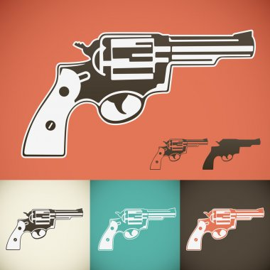 Revolver symbol in various colors. stock vector