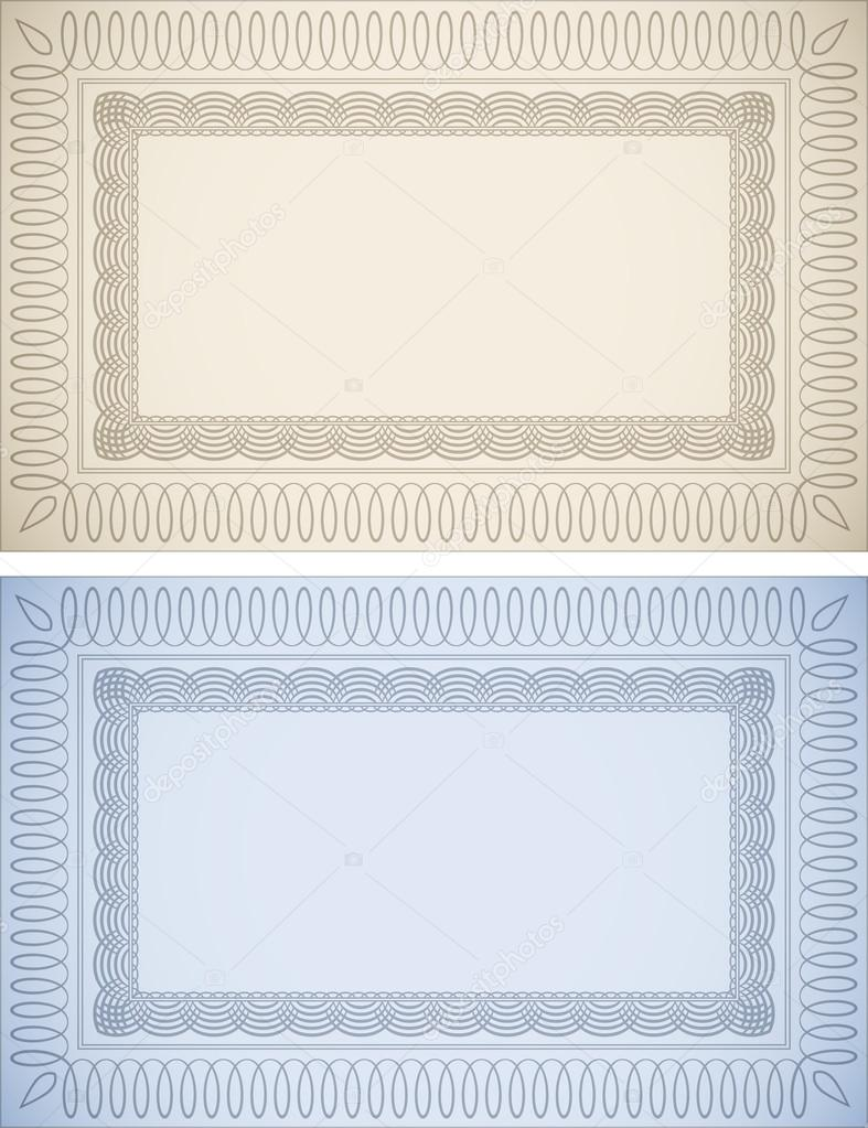 Certificate frames stock vector jhansen2 18852011 certificate frames in beige and blue vector by jhansen2 xflitez Choice Image