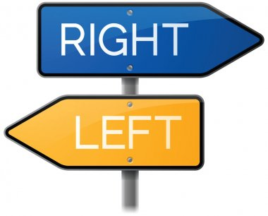 Right or Left Street Signs
