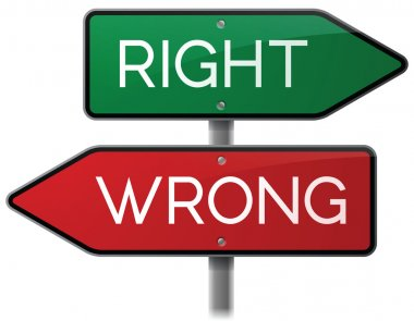 Right and Wrong Direction Signs