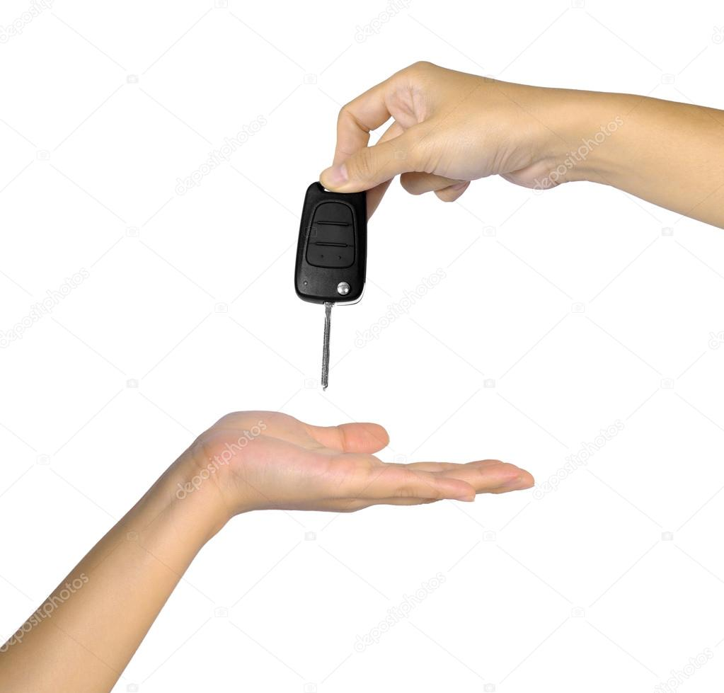 main avec cl de voiture photographie leolintang 13429784. Black Bedroom Furniture Sets. Home Design Ideas