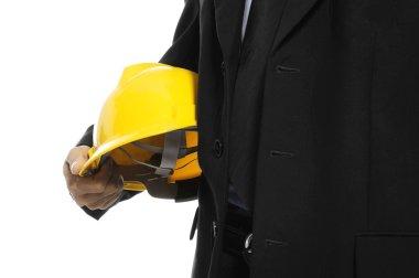 Architect Holding Helmet