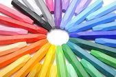 řádek pastelky