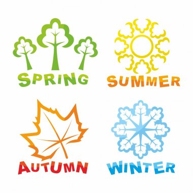 Colorful seasons icons. Vector illustration stock vector