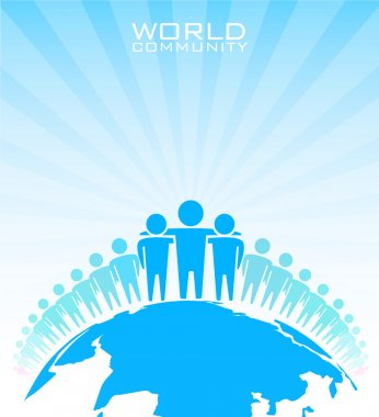 World community - vector illustration