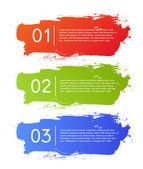 Fotografia banner di Brush strokes infografica opzioni