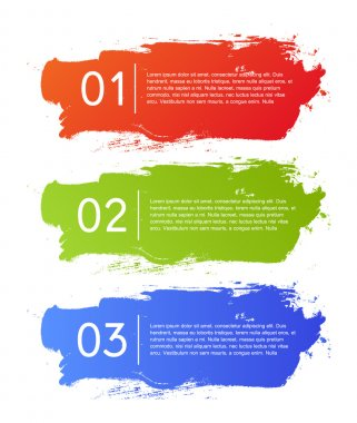 Brush strokes infographics options banner
