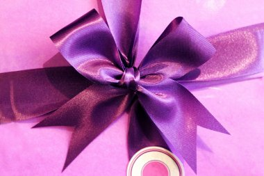 Purple satin ribbon, decoration element