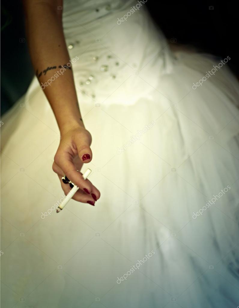Bride Wearing Wedding Dress Holding Cigarette: Smoking Brides Wedding Dress At Websimilar.org