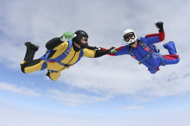 Skydiving photo. Tandem